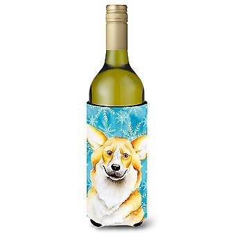 Corgi Winter Wine Bottle Beverge Insulator Hugger
