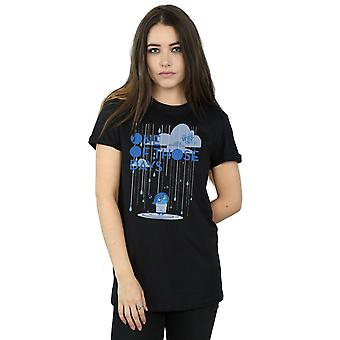 Disney Women's Inside Out One Of Those Days Boyfriend Fit T-Shirt