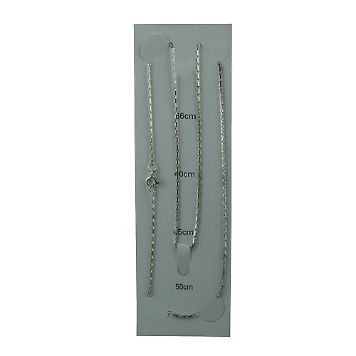 Silver 1.5mm wide Hayseed Pendant Chain 20 inches