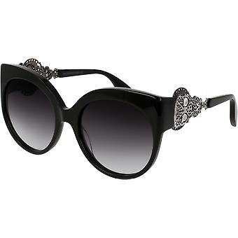 Alexander McQueen AM0061S Black/Silver gradient Smoke