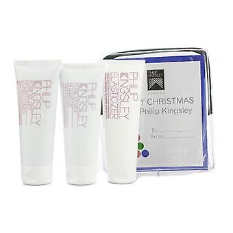 Philip Kingsley Pure Silver Jet Set: Shampoo 75ml + Conditioner 75ml + Elasticizer 75ml 3pcs