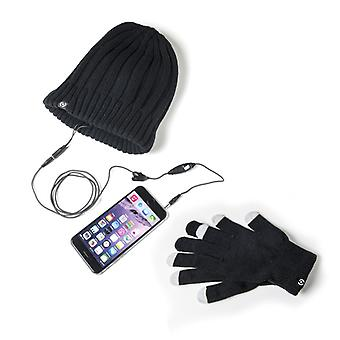 Celly hat with headset + mittens En