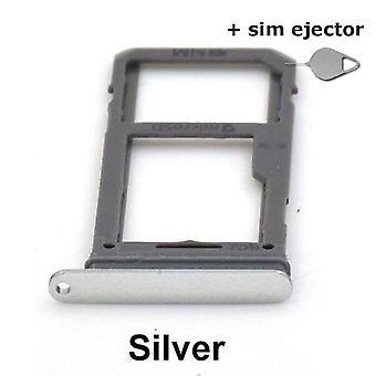 SIM-Karte Halter/Micro-SD-Karte für Samsung Galaxy S8-Silber + Deco-Pin-Sim Auswerfer