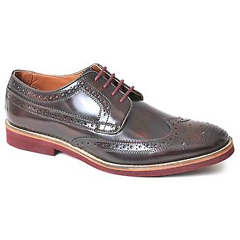 Mens Leather Lightweight Lace Up Wedding Smart Dress Brogues Formal Shoes