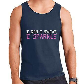 Ik zweet niet ik Sparkle mannen Vest