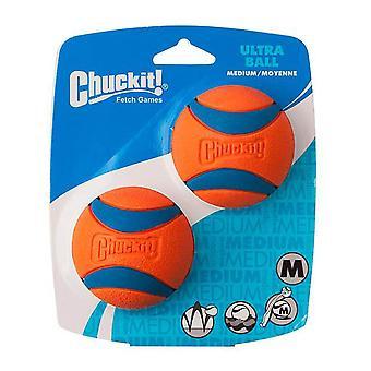 Chuckit Ultra Ball Medium 6.5cm 2 per pack, Ultra Dog and Puppy Toy