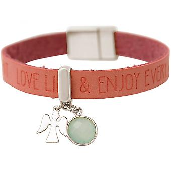 Women - bracelet - protection - 925 Silver - WISHES - Pink - Pink - chalcedony - sea green - magnetic closure