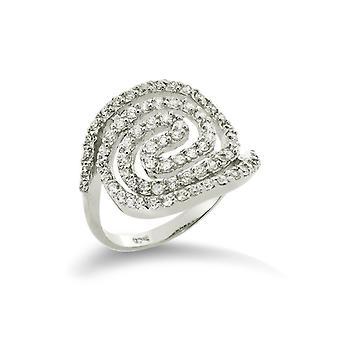 Orphelia argento 925 anello Cirkel zirconio ZR-3538