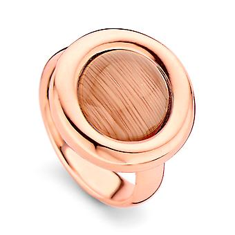 Orphelia Silver 925 Ring Rose Gold Brown  Zirconium   ZR-7197/BR