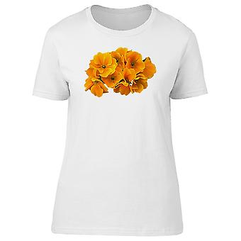 Collage Of Orange Flowers Tee Women's -Image by Shutterstock