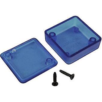 Hammond Electronics 1551MTBU Universal enclosure 35 x 35 x 20 Acrylonitrile butadiene styrene Blue (translucent) 1 pc(