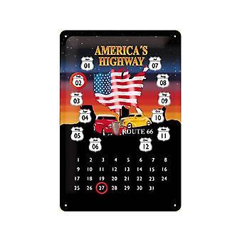 Маршрут 66 Americas шоссе вечную металла календарь
