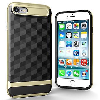 Hülle für Apple iPhone 7 Backcover Case Handy Schutzhülle - Cover 3D Prisma Design Gold
