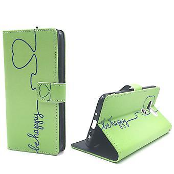 Handyhülle Tasche für Handy LG G5 Be Happy Grün