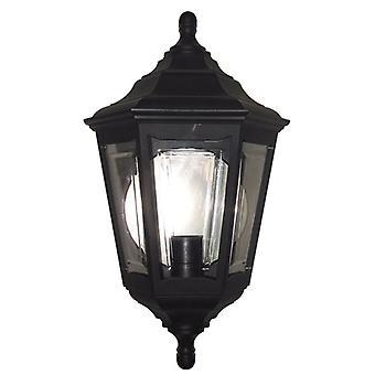 Elstead belysning Kinsale 6 sidet Flush væglampe i sort
