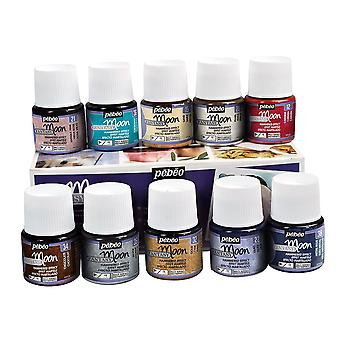 Pebeo Fantasy Moon Reactive Paint Assorted Colours Box Set 10 x 45ml