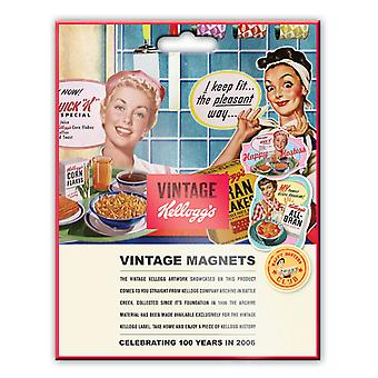 Vintage Kellogg's Happy Hostess Fridge Magnets