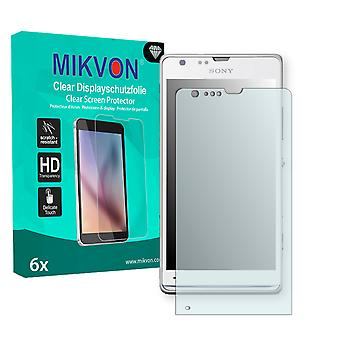 Sony Xperia SP LTE Screen Protector - Mikvon Clear (Retail Package with accessories)