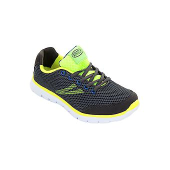 Ladies Mesh Padded Neon Lace Up Sneakers Flat Shoes Sport Trainers