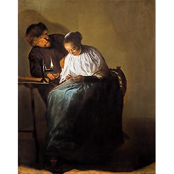The Proposition,Judith leyster,50x40cm