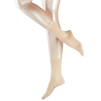 Falke Sensual calcetines de seda Midcalf - crema