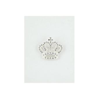 Union Jack slijtage kroon Brooch - Silver