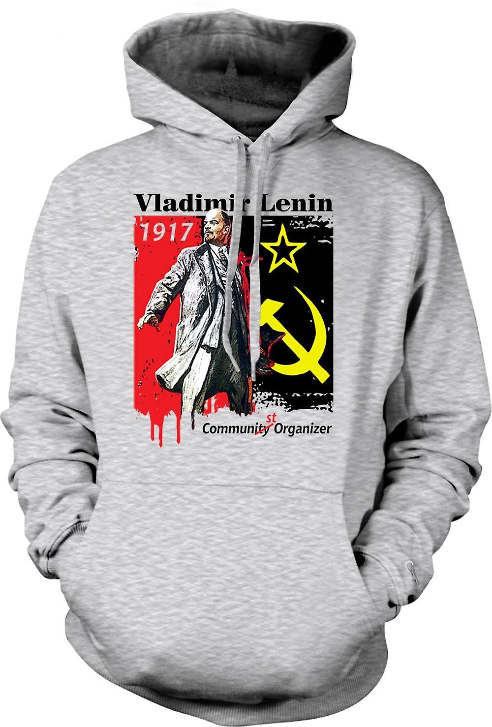 Mens Hoodie - Vladimir Lénine - communiste - Russie - Icon
