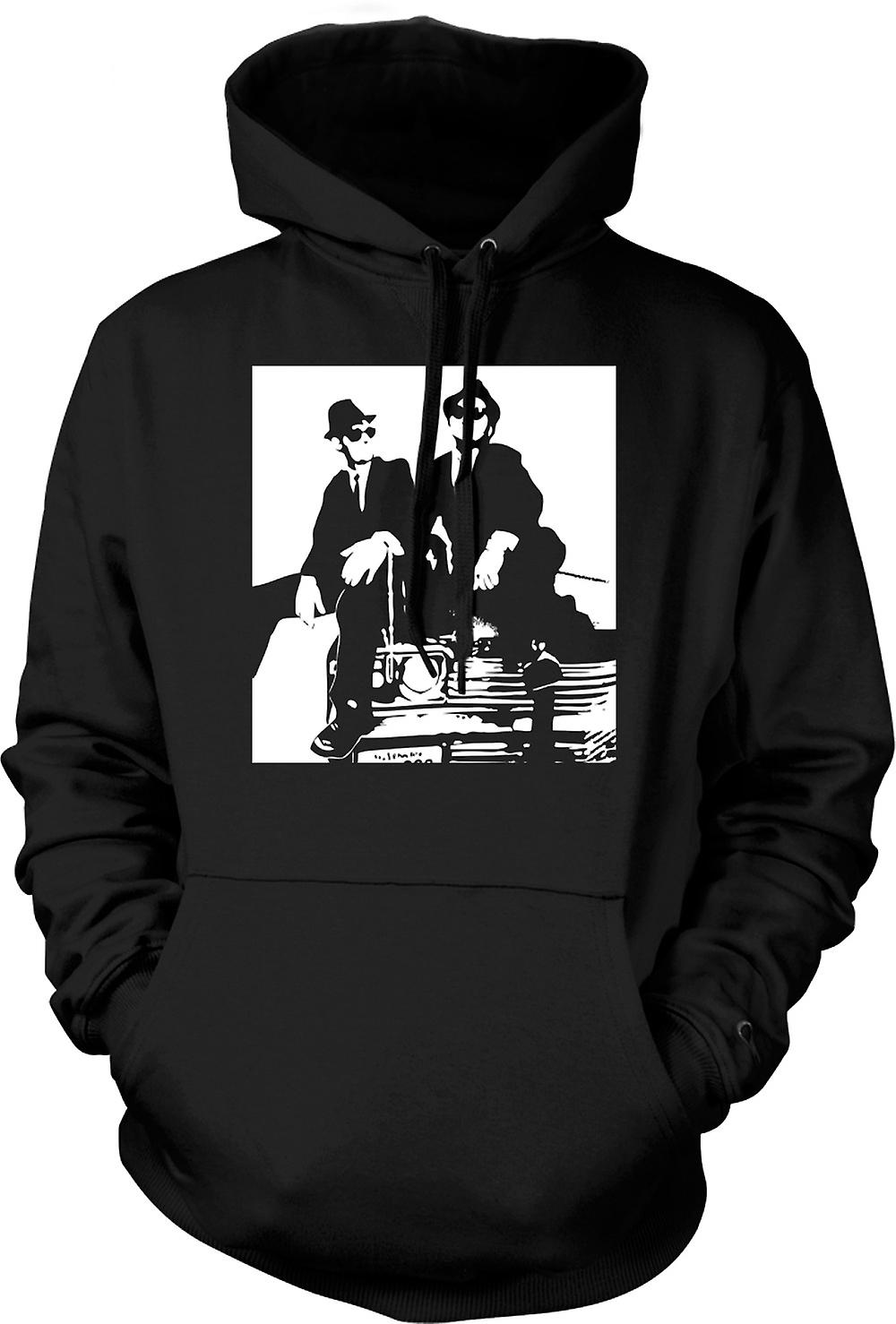Mens-Hoodie - Blues Brothers - Pop-Art