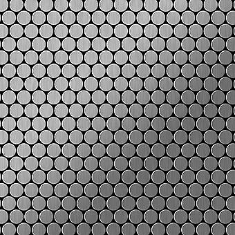Metal mosaik rustfri LEGERING Penny-S-S-B