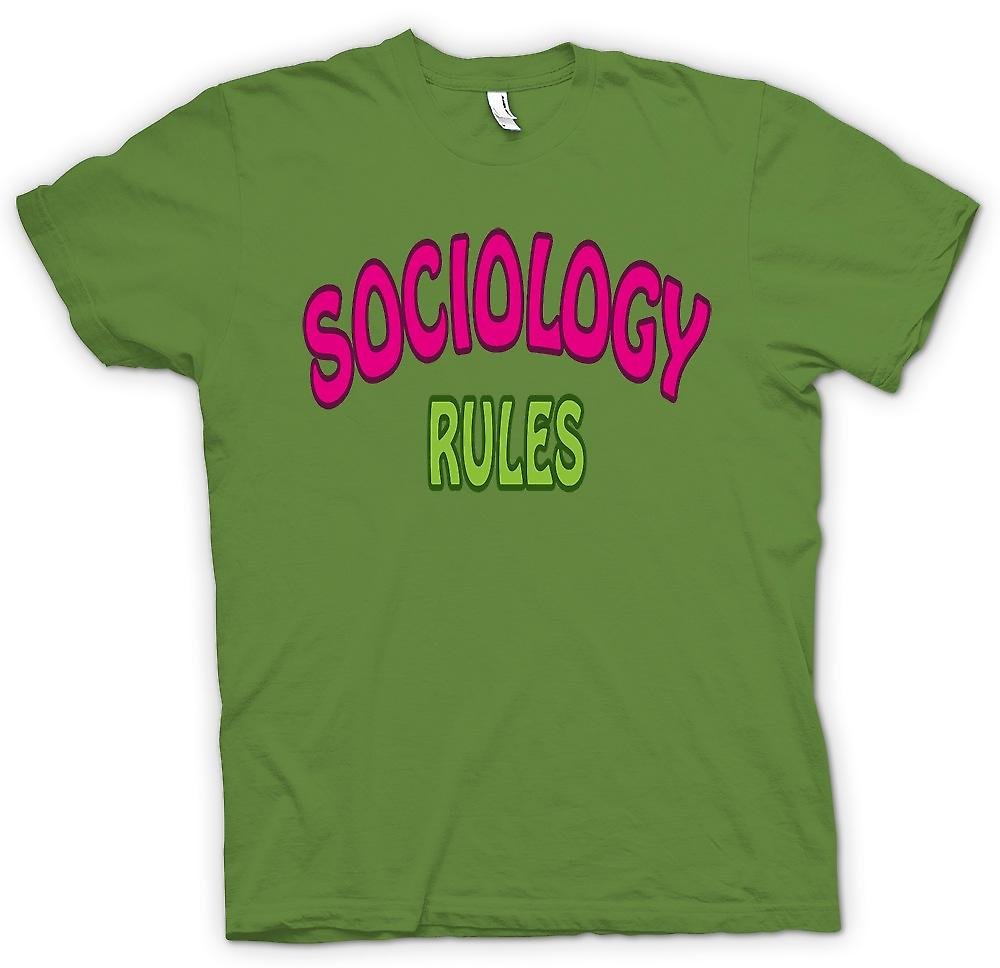 Mens T-shirt - Soziologie Rule - lustig