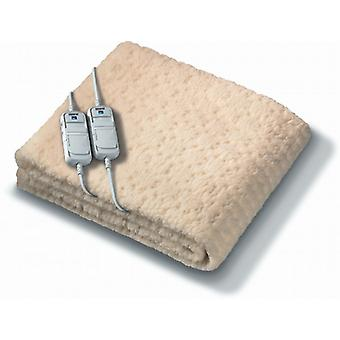 Mongram Komfort Electric Blanket By Beurer | Fitted; Soft Fleece & Timer | Double Size Dual Control