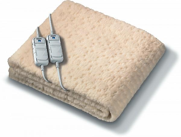 Beurer Monogram Komfort Fully Fitted Fleece Double Dual Controls Electric Blanket With Timer