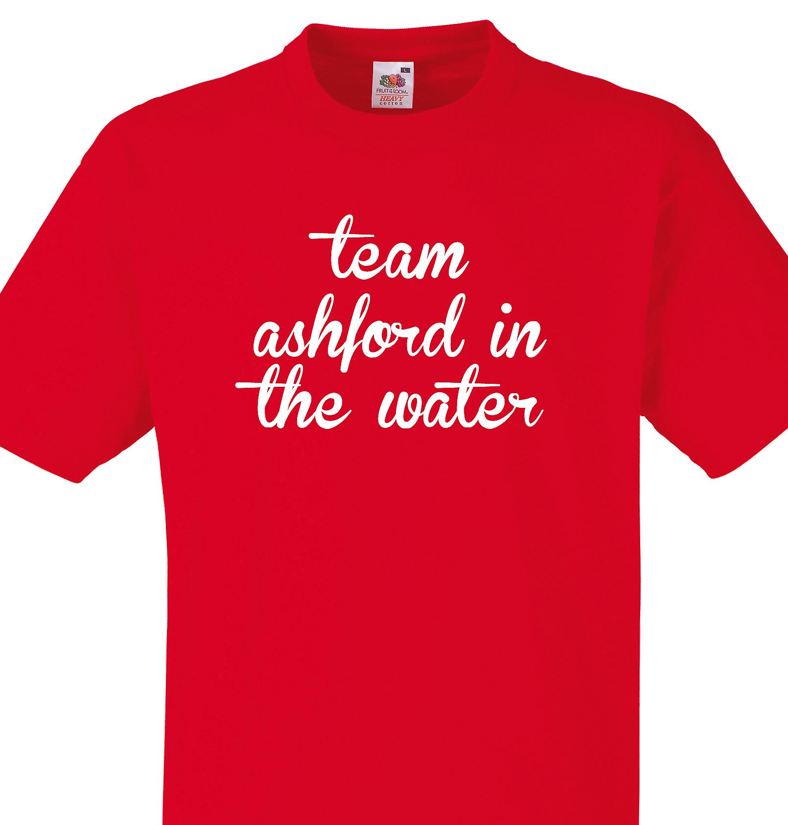 Team Ashford in the water Red T shirt