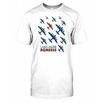Bombowce Lancaster II wojny światowej na niebie - Royal Air Force dzieci T Shirt