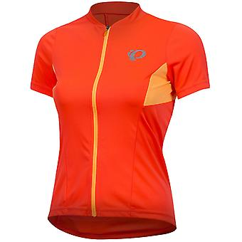 Pearl Izumi Fiery Coral-Orange Pop Select Pursuit Womens Short Sleeved Cycling J