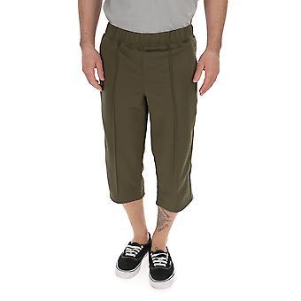 Comme Des Garçons Green Polyester Pants