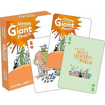 Roald Dahl James e o pêssego gigante convés de 52 cartas (nm)