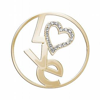 Lucet Mundi Goldtone 'True Love' Coin for Interchangeable Locket Pendant