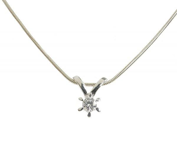 Cavendish French Sterling Silver and CZ Shooting Star Pendant