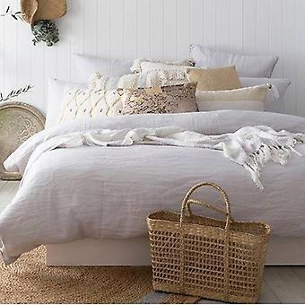 Bambury Silver Linen Quilt Cover Set
