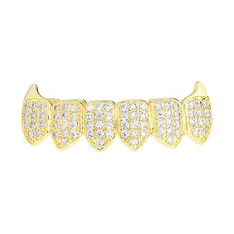 Grillz - gold - one size fits all - VAMPIRES cubic ZIRCONIA bottom