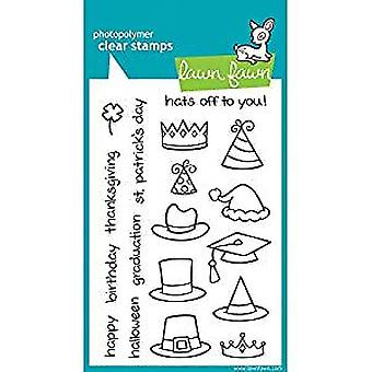 Lawn Fawn Clear Stamps Hats Off to You (LF313)