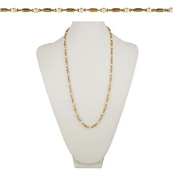Eternal Collection Indulgence 26 Inch Gold Tone And Faux Pearl Necklace