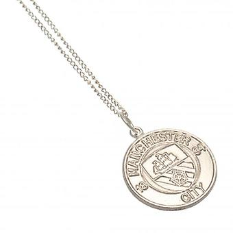 Manchester City Sterling Silver Pendant & Chain