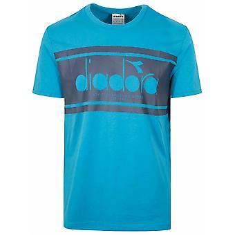 Diadora Diadora Mosaic Blue Short Sleeve T-Shirt