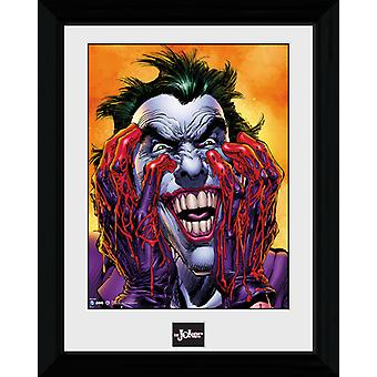 Batman Joker skratt inramade Collector Print 40x30cm