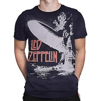 Liquid blue -  exploding zeppelin - short sleeve tie-dyed t-shirt