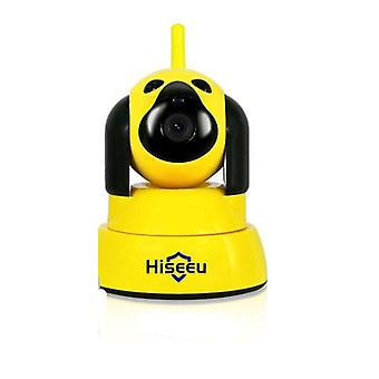 Home security ip camera wi-fi wireless smart pet dog camera 720p night cctv indoor baby monitor yellow (au plug)