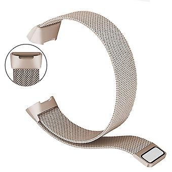 Bakeey metal stainless steel milanese loop watch band strap for fitbit charge 3