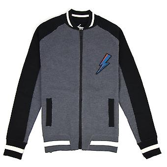 Givenchy Knitted Bomber Jacket With Zip Grey/Black
